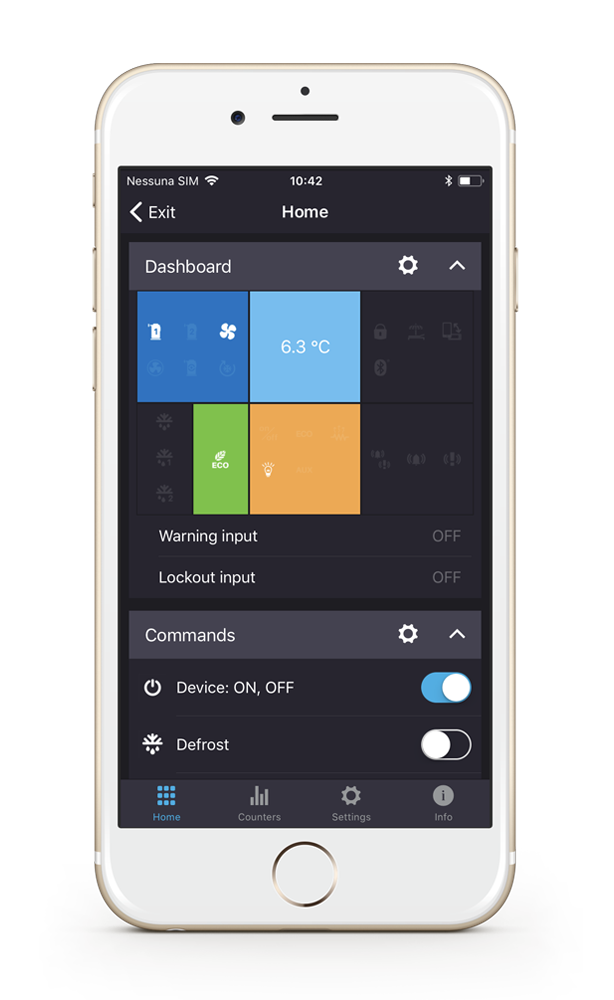 Emerson™ CONNECTED App Dashboard
